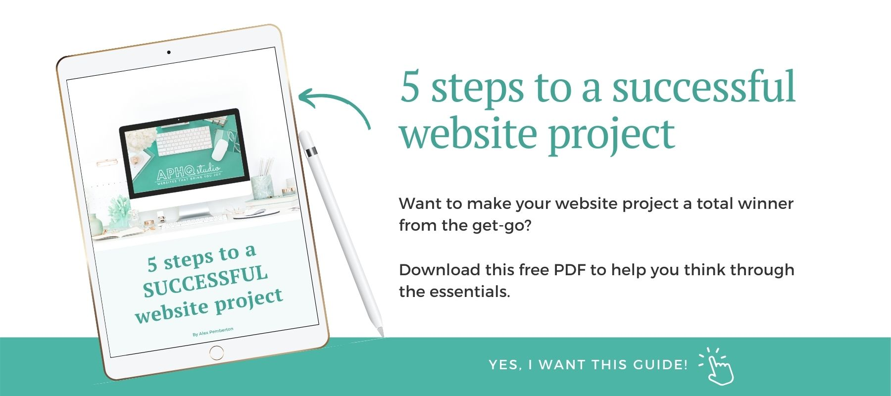 5 steps to a successful website project - click to request download