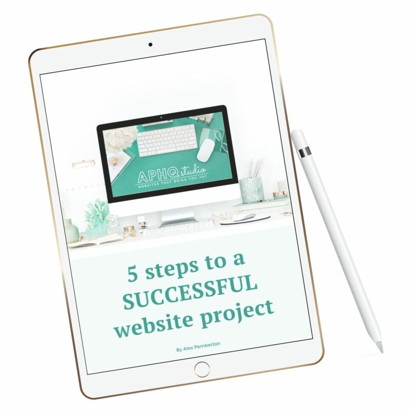 5 steps to a successful website project - mockup on iPad