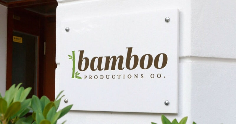Bamboo Productions Co. outdoor sign