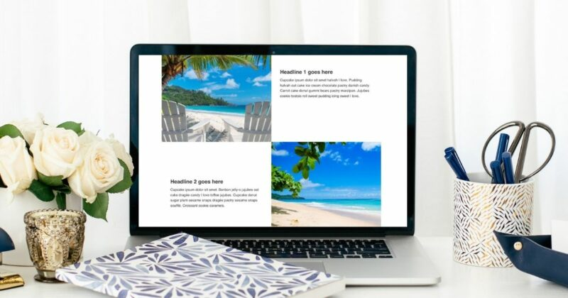Repeating media & text layout on desktop